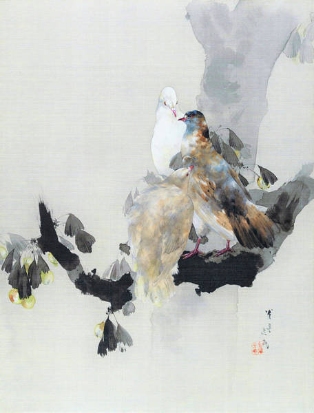 Wall Art - Painting - Dove - Digital Remastered Edition by Watanabe Seitei