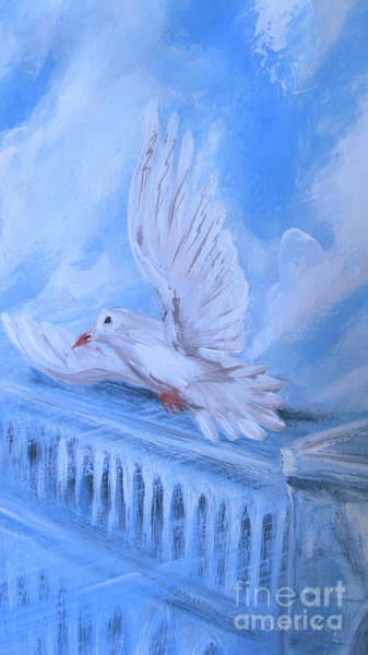 Painting - Dove by Oksana Semenchenko