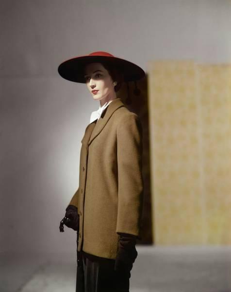 Photograph - Dovima In A Traina-norell Coat by Horst P. Horst