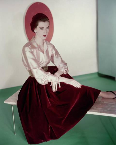 Wall Art - Photograph - Dovima Wearing Germaine Monteil Make-up by Horst P. Horst