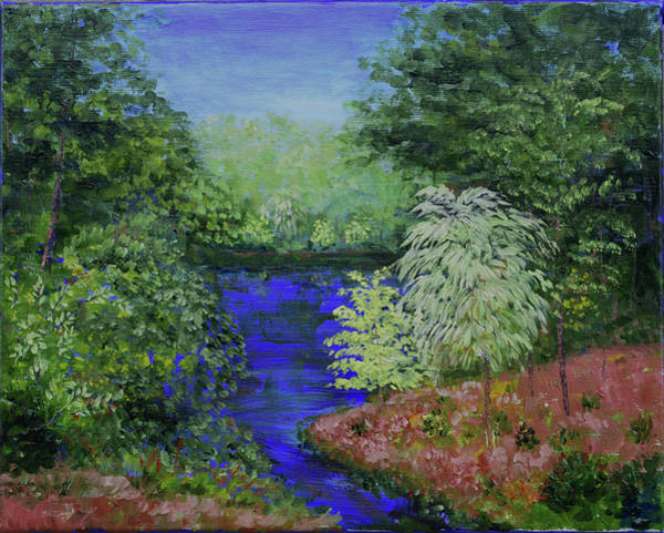Painting - Dow Garden's Pond by Alexis Baranek