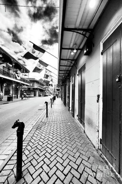 Bourbon Street Wall Art - Photograph - Down Bourbon Street New Orleans by John Rizzuto