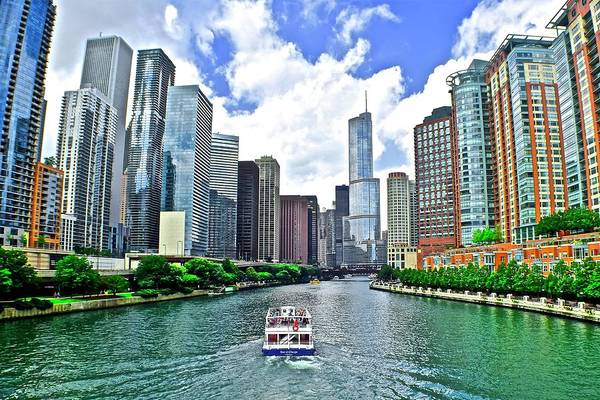 Wall Art - Photograph - Down The Chicago River by Frozen in Time Fine Art Photography