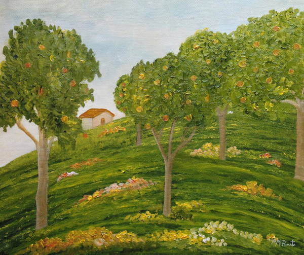 Painting - Down The Shade Of The Apple Trees by Angeles M Pomata