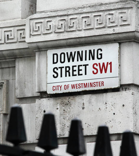 Wall Art - Photograph - Downing Street City Of Westminster Sign - London by Daniel Hagerman