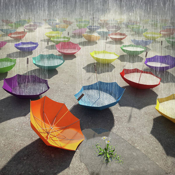 Spots Digital Art - Downpour by Cynthia Decker
