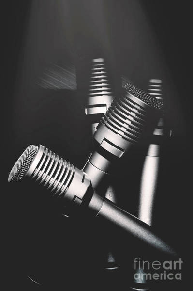 Microphone Photograph - Downtown And Dimly Lit  by Jorgo Photography - Wall Art Gallery