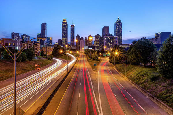 Photograph - Downtown Atlanta City Skyline At Dusk by Gregory Ballos