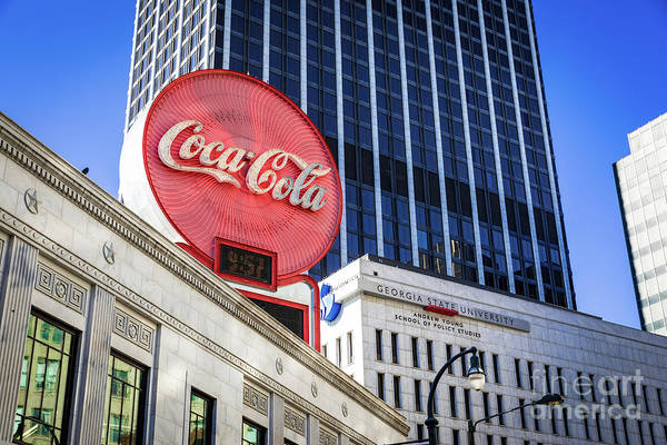 Photograph - Downtown Atlanta Ga Coca Cola Sign by Sanjeev Singhal