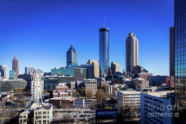 Photograph - Downtown Atlanta Ga Skyline C by Sanjeev Singhal