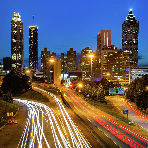 Photograph - Downtown Atlanta Georgia Skyline 1x1 by Gregory Ballos