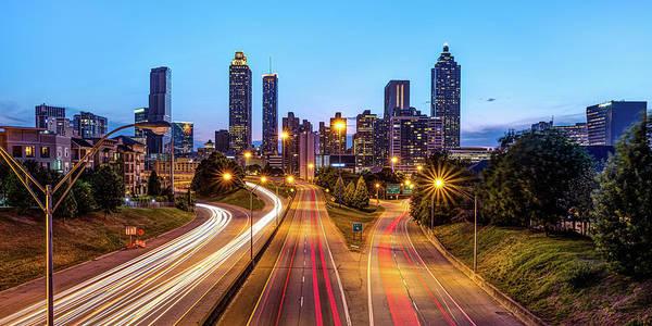 Photograph - Downtown Atlanta Skyline Panoramic View From Jackson Street Bridge by Gregory Ballos