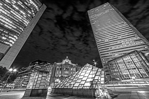 Photograph - Downtown Boston Atlantic Ave Boston Ma Boston Massachusetts Black And White by Toby McGuire