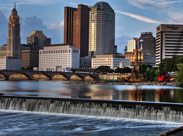 Ohio Photograph - Downtown Columbus Ohio And Scioto River by Copyright Matt Kazmierski