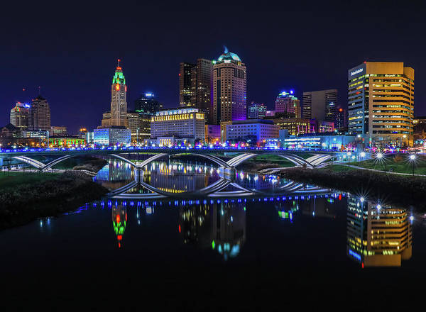Photograph - Downtown Columbus Ohio Skyline by Dan Sproul