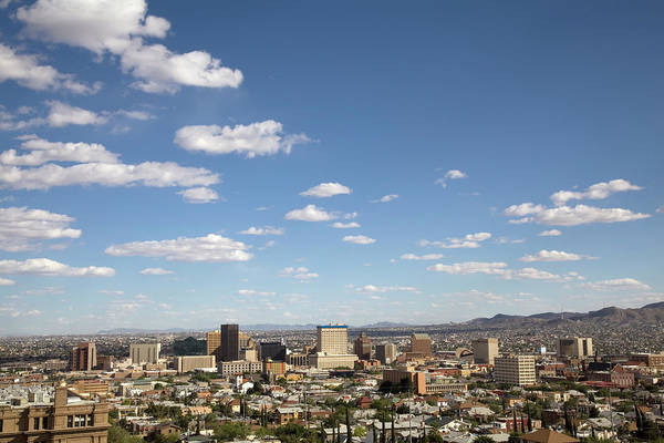 Southwest Usa Photograph - Downtown El Paso Skyline by Vallariee