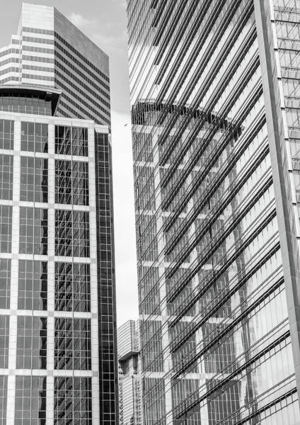 Photograph - Downtown Houston Black And White Skyscraper Reflections by Dan Sproul