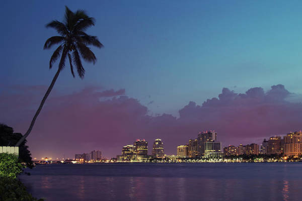 Us West Coast Photograph - Downtown Lights, West Palm Beach by Ddmitr
