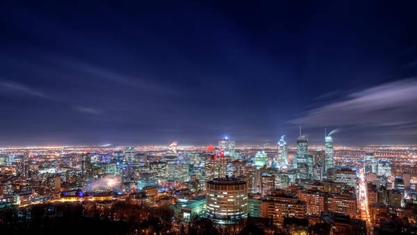 Quebec City Photograph - Downtown Montreal by Magnus Larsson