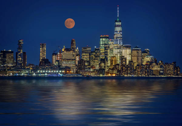 Photograph - Downtown Nyc Skyline  by Susan Candelario