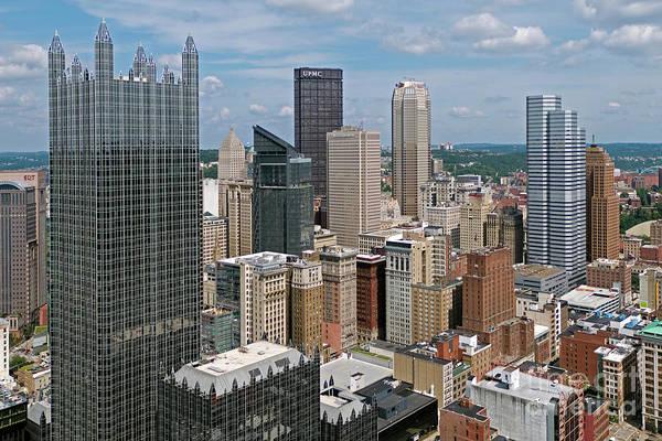 Wall Art - Photograph - Downtown Pittsburgh Skyline by Bill Cobb