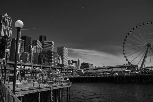 Photograph - Downtown Seattle 001 Bw by Lance Vaughn