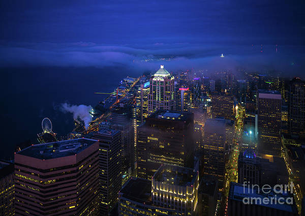 Wall Art - Photograph - Downtown Seattle Before Dawn by Mike Reid
