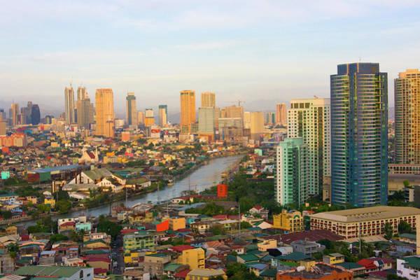 Philippines Photograph - Downtown Skyline Along Manila Bay by Keren Su