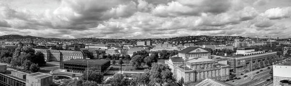 Baden Wuerttemberg Photograph - Downtown Stuttgart, Stuttgart, Baden by Panoramic Images