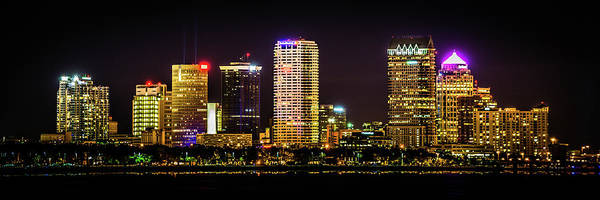 Downtown Tampa Skyline Art Print