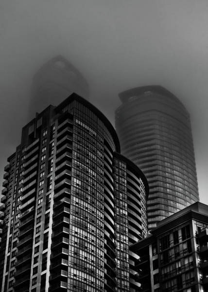 Photograph - Downtown Toronto Fogfest No 22 by Brian Carson