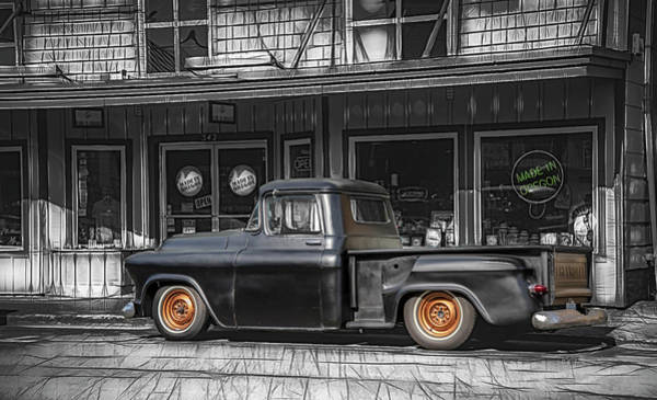 Photograph - Downtown Truck by Bill Posner