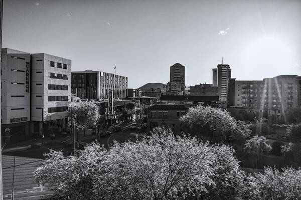 Photograph - Downtown Tucson Black And White by Chance Kafka