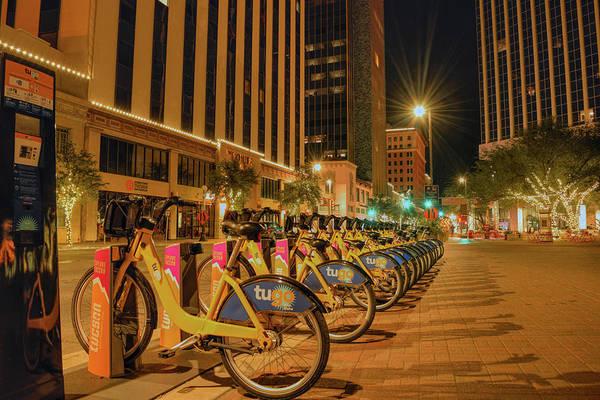 Photograph - Downtown Tucson Night Scene by Chance Kafka