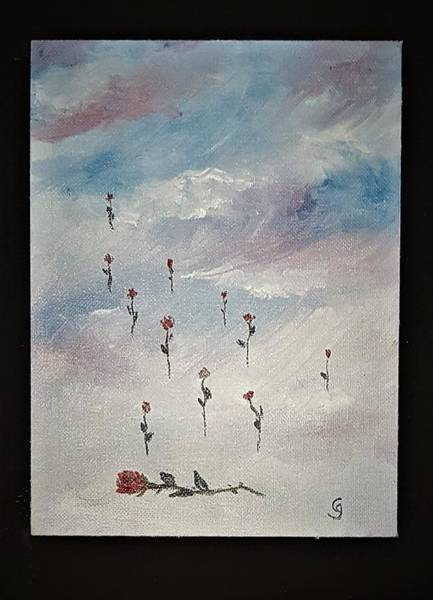 Painting - Dozen Roses         1219 by Cheryl Nancy Ann Gordon