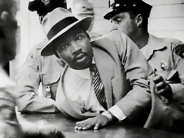 Mlk Digital Art - Dr. Martin Luther King Arrest 1958 by Daniel Hagerman