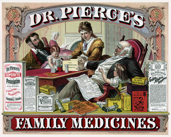 Wall Art - Photograph - Dr. Pierce's Family Medicines 1874 by Daniel Hagerman