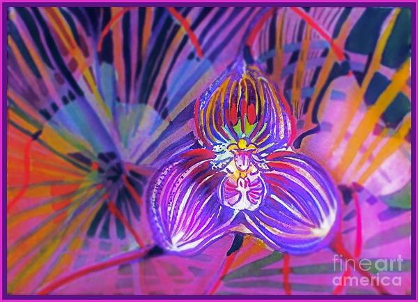 Wall Art - Painting - Draculas Orchid by Mindy Newman