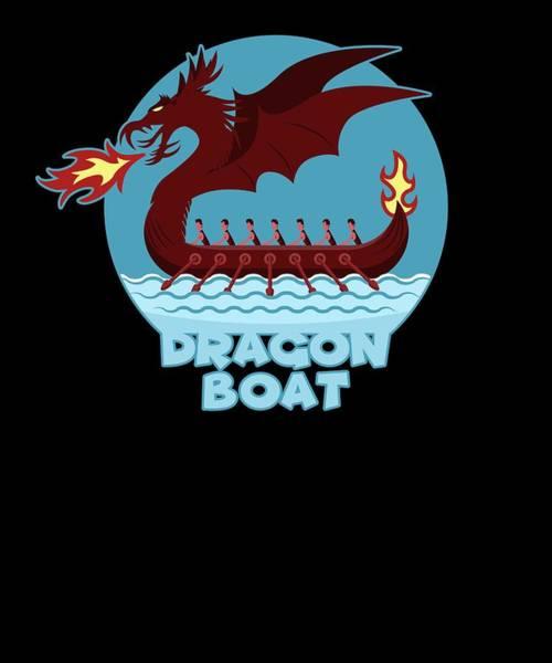 Dragon Boat Race Digital Art - Dragon Boat Team Rowing Sports Mythical by Jonathan Golding