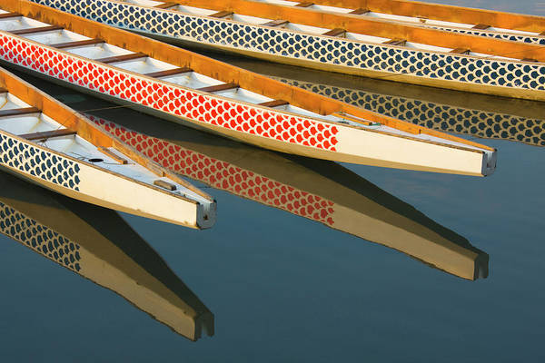 Dragon Boats Wall Art - Photograph - Dragon Boats In Manila Bay, Manila by Danita Delimont