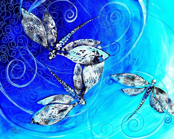Painting - Dragon Fly Tri by J Vincent Scarpace