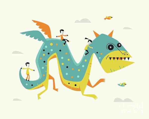 Monsters Digital Art - Dragon by Jazzberry Blue
