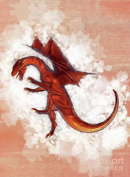 Wall Art - Painting - Dragon King by Sarah Kirk