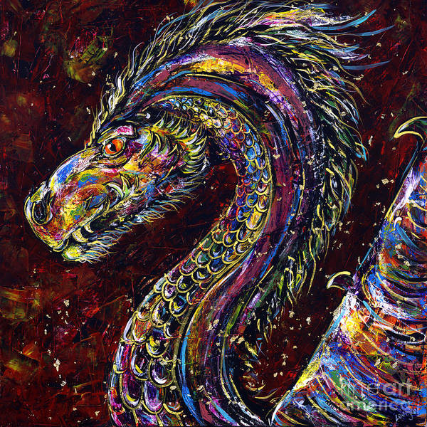 Wall Art - Painting - Dragon by Lovejoy Creations