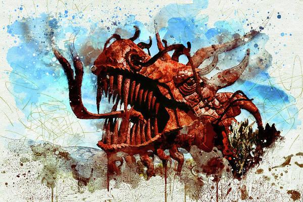 Digital Art - Dragon by Mark Jackson
