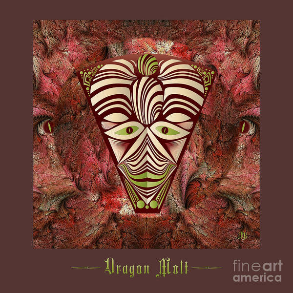 Digital Art - Dragon Molt M B by Doug Morgan