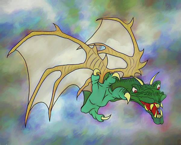 Digital Art - Dragon Surprise by John Haldane