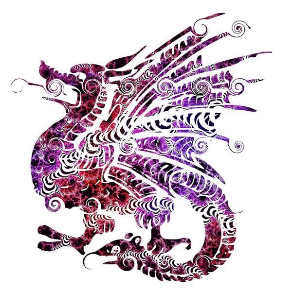 Courage Digital Art - Dragon Tattoo by ArtMarketJapan
