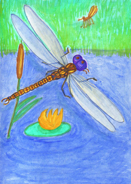 Painting - Dragonfly by Irina Dobrotsvet