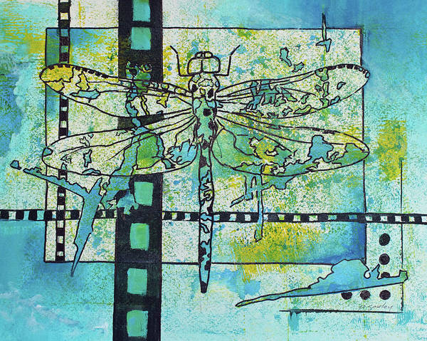 Painting - Dragonfly by Joanne Smoley